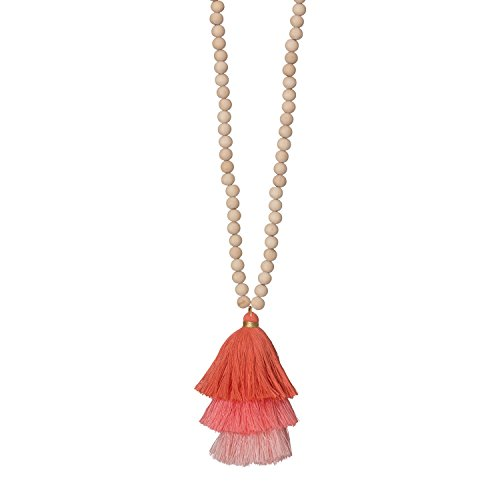 Occasionally Made O-JT-Not-CL Ombre Tassel Necklace, (Coral Necklace Jewelry)
