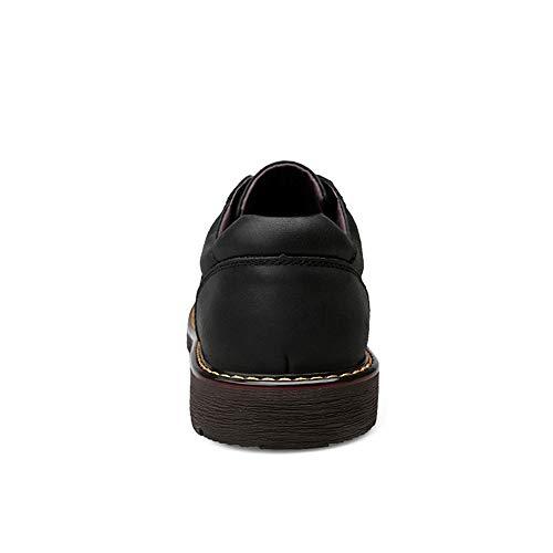 Simple Suela Redonda Trabajo Oxford Exterior shoes Calzado Hombre Para zapatos Hombres Casual Negro Negro color Cómodo Versátil Tamaño 42 Eu De Jiuyue Zapatos 4XSwq8zx8