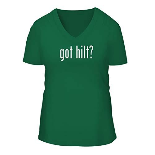 Hilt Replicas Swords (got hilt? - A Nice Women's Short Sleeve V-Neck T-Shirt Shirt, Green, Large)