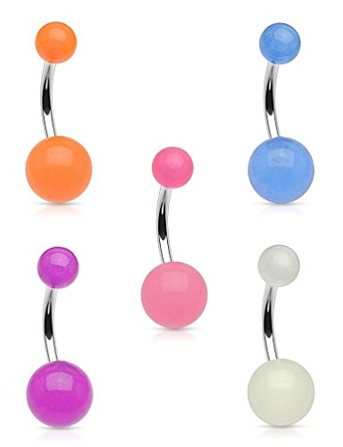 Led Light Belly Button Ring in US - 5
