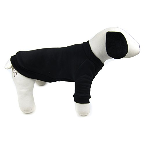 Alfie Pet by Petoga Couture - Ellen Crew Sweater - Color: Black, Size: (Ellen Show Halloween Costume)