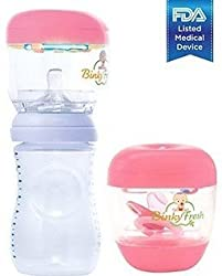 Binky Fresh UV Pacifier and Baby Bottle Sanitizer- Green