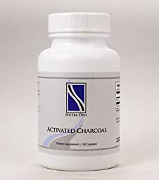 Activated Charcoal 100 Capsules 200mg, by Nutri-Dyn