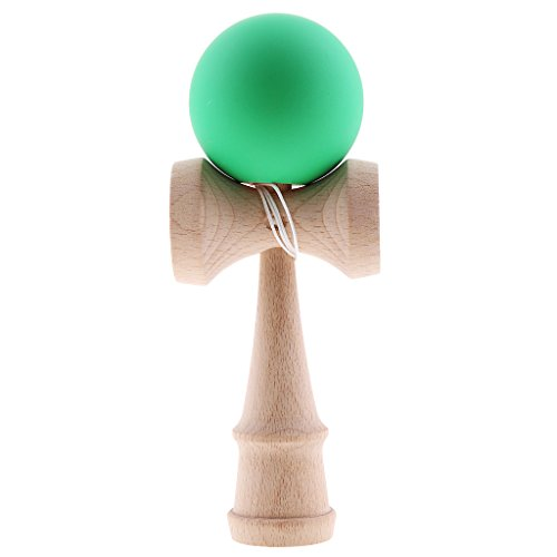 Jili Online Green Painted Kendama Game Toy Kids Wooden Cup Ball with String Outdoor Sports (Japanese Wooden Toy With Ball And String)