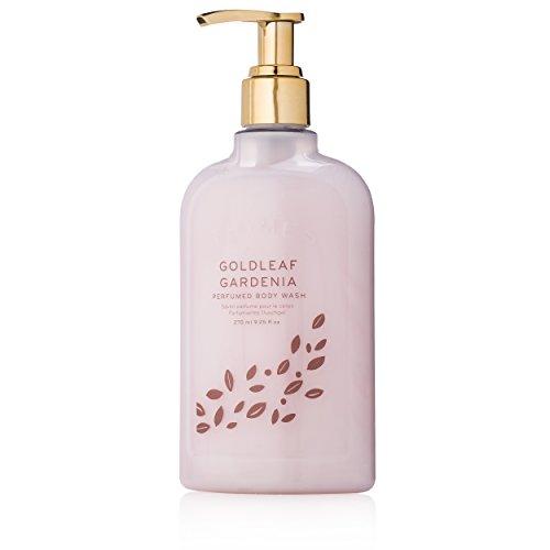 Thymes Goldleaf Gardenia Perfumed Body Wash with Pump - Luxury Floral Shower Gel for Women - 9.25 oz