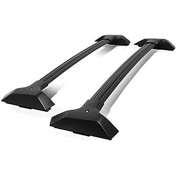 Amazon Com Pair Factory Style Aluminum Car Roof Rail