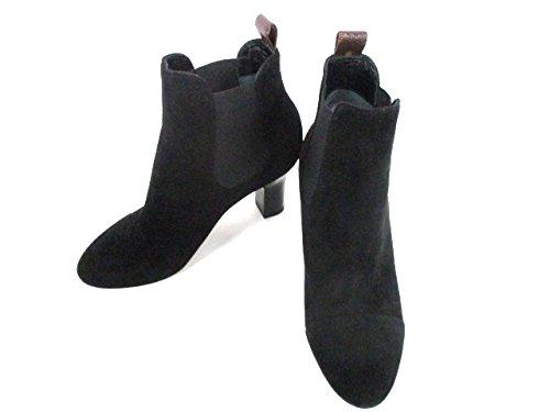 (ルイヴィトン) LOUIS VUITTON ブーツ ショートブーツ レディース 黒 【中古】 B07FTJ3SKP  -
