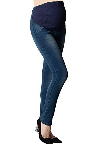 Sweet-Mommy-Maternity-Fleece-Lined-Denim-Skinny-Jeans