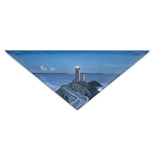 n Polyester,Lighthouse at Sea Turban Triangle Scarf Bib Scarf Accessories Pet Cat Baby Puppy Saliva Dog Towel ()