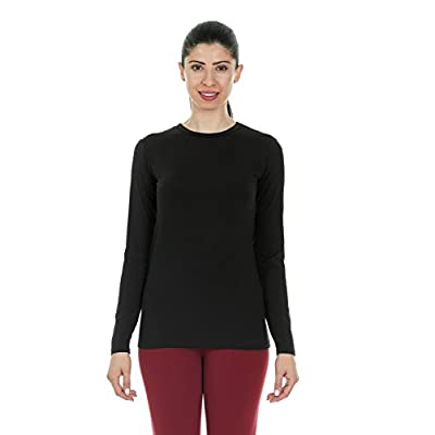 Thermajane Womens Ultra Soft Thermal Underwear Shirt – Compression Baselayer Crew Neck Top at Women's Clothing store