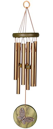 Woodstock Chimes Butterfly Wind Chime, Green- Habitats Collection by Woodstock Chimes