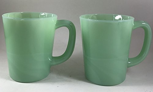 Glass Coffee Mug - USA - American Made - Mosser Glass (2, Jadeite Green)