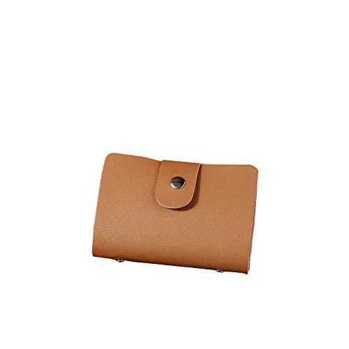 (Passport Card Bag 24 Bits Card Case Pu Function Business Card Holder Men Women Credit Id Card Holders Wallet,C)