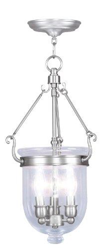 Livex Lighting 5063-91 Jefferson 3 Light Brushed Nickel Bell