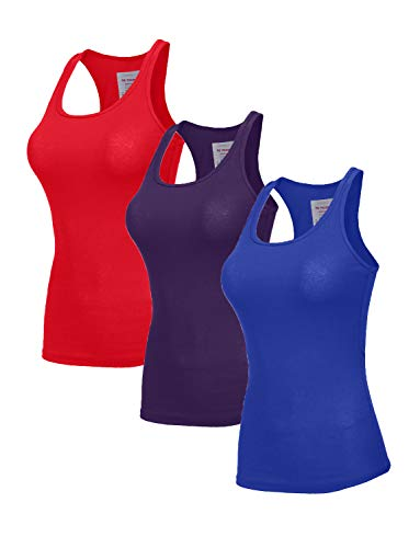 Ruby Ribbed Tank Top - NE PEOPLE Womens Round Neck Ribbed Crop Tank Top