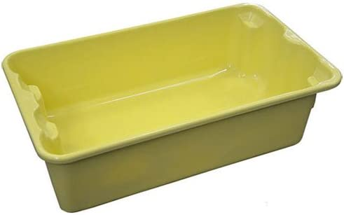 Molded Fiberglass Nest and Stack Tote 780208-5126 - 17-78 x10-58 x 5 Yellow - Lot of 12 / Molded Fiberglass Nest and Stack Tote 780208-5126 - 17-78 x10-58 x 5 Yellow - Lot of 12