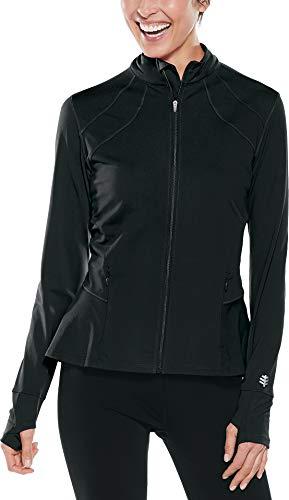 Coolibar UPF 50+ Women's Diamond Cove Swim Jacket - Sun Protective (3X- Black)