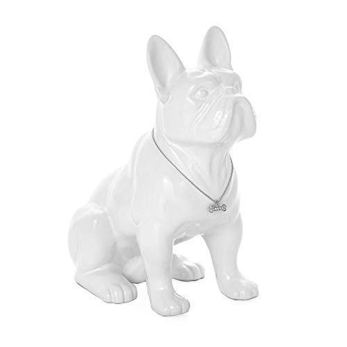 Torre & Tagus Sitting French Bulldog Sculpture Decor Small Animal Statue for Home Office, Book Shelf, Kitchen Countertop…