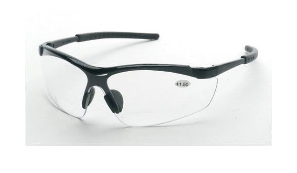 Bifocal +1 Clear Lens Liberty Glove /& Safety 1775C10 Liberty ProVizGard Synergy Protective Eyewear Black Frame Case of 12 Pairs