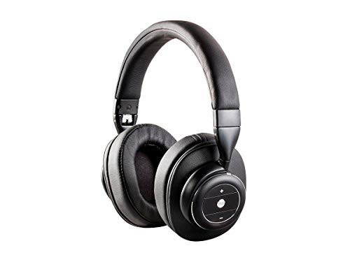 Monoprice SonicSolace Active Noise Cancelling Bluetooth Wireless Headphones – Black Over Ear Headphones