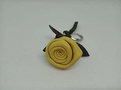 Llavero Cuero, Llavero Flor, Rosa de Cuero, Llavero ...