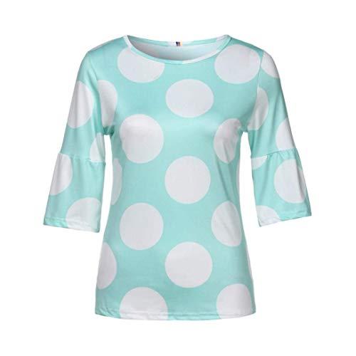 3 Manches Dots Tshirts Bonne Tshirt Rond De Qualit Haut Polka Mode 4 lgant Gr Casual Et Chic Costume Col Top Manches Mode Femme Trompette Jeune xvq0Pwvg4