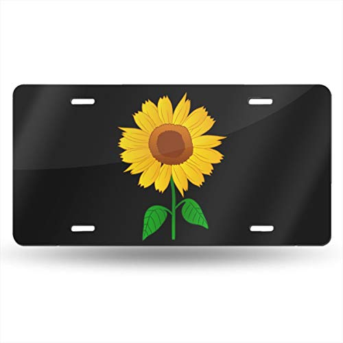 KLQ Sunflower Clipart License Plate Front License Sign Car Tag