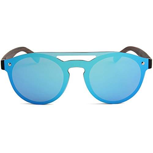 Gafas de Unisex Color sol bambú Protección de Deportivas para Gafas Ciclismo Blanco UV400 con Azul Gafas polarizadas y Lentes de bambú Correr Colores YIRwTwqx
