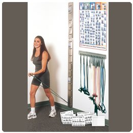 Patterson Medical Web-Slide Exercise Rail Systems Storage Rack by Patterson Medical