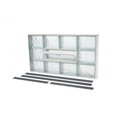 NailUp2 Ice Pattern Glass Block Window by TAFCO WINDOWS