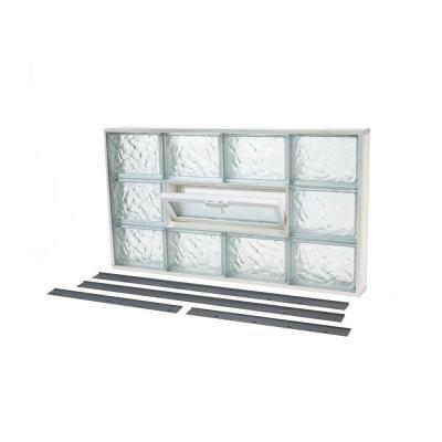 NailUp2 Ice Pattern Glass Block Window