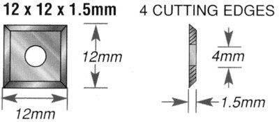 Replacement Straight Carbide Insert Knives