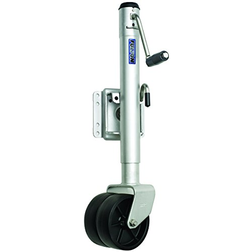 Fulton XPD15L0101 Swivel Trailer Tongue Jack, Dual Wheel - 1500 Lbs. Capacity, Steel ()