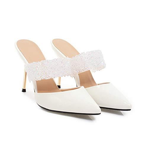 Zeppa white 35 Asl05789 Con Balamasa Bianco Donna Sandali A1RxUH