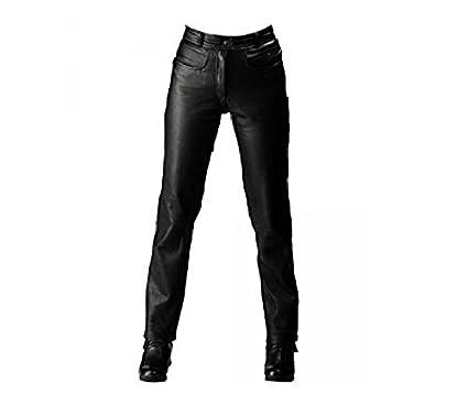 Roleff Pantal/ón de Cuero Racewear 58 Negro