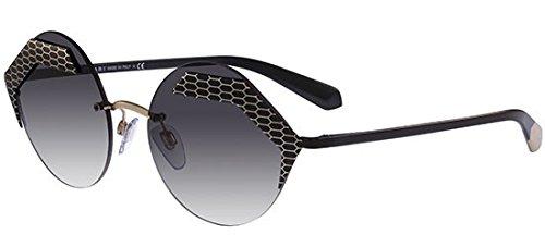 BVLGARI Women/'s Round Sunglasses BV6089 20288G Matte Black//Grey Lens 55mm