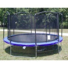 Net for 15ft Trampoline Enclosure Using 4 Arches and Straps SuperTrampoline
