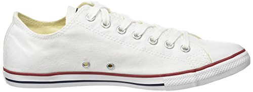 Converse Unisex Chuck Taylor All Star Lage Top Sneakers Optisch Wit