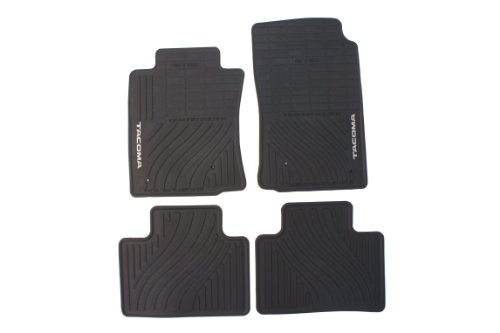 Genuine Toyota Accessories PT908-35001-02 Front and Rear All-Weather Floor Mat (Black), Set of 4 02 All Weather Floor Mats