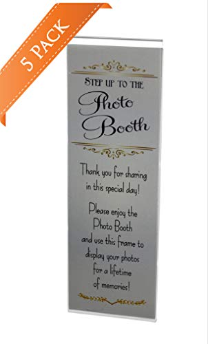 5 Acrylic Magnetic Photo Booth Frames for 2 X 6 Photo Strips