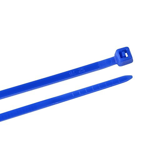 Creative Solutions CS-108B Cable Tie, 8 inch, 18 lb, Craft, Wrap and Decorate, Nylon Zip Tie, 25 Pk, Blue