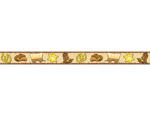 Teacher Created Resources Western Straight Border Trim, Brown with Yellow (4760) (Border Western)
