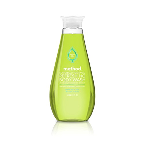 Method Naturally Derived Refreshing Body Wash Enriched With Avocado Extract, Green Tea + Aloe, 18 Ounce