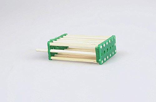 Beekeeping Tool Queen Bee Cage Light Durable 3.7*1.7*5.4cm Green 14 Bamboo Queen Nest Hive Beekeeping Equipment