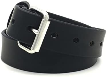 [해외]Black Genuine Latigo Leather Gun CCW Belt Handmade in USA / Black Genuine Latigo Leather Gun CCW Belt Handmade in USA