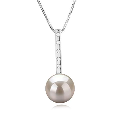 Vanna White 10-11mm AAAA Quality Freshwater 925 Sterling Silver Cultured Pearl Pendant For Women