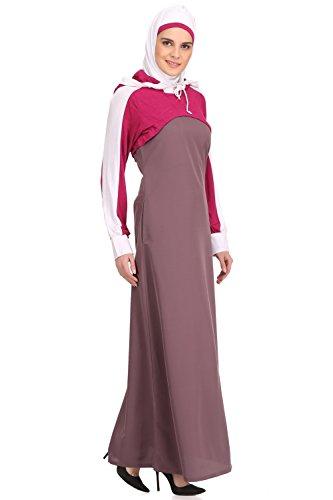 504 Kashibo Purple Burqa Abaya Magenta und Jersey Sportbekleidung amp; Rayon Freizeit Muslim MyBatua AY Stilvolle qCd6w5q