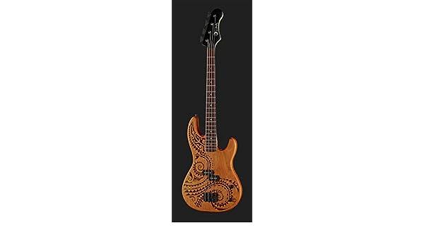 Bajo eléctrico junior a escala corta para niños Luna Guitars Tattoo: Amazon.es: Instrumentos musicales