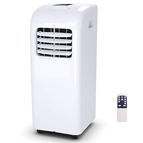 COSTWAY 10000 BTU Portable Air Conditioner with Remote Control Dehumidifier Function Window Wall Mount (10,000 BTU)