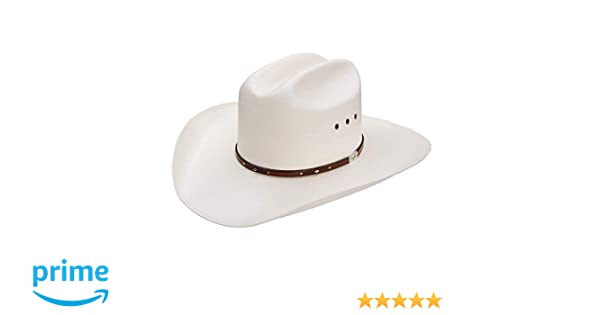 44eb2cda6c4e6 Amazon.com  Resistol Men s George Strait Palo Duro 8X Straw Cowboy Hat  Natural 7 5 8  Clothing